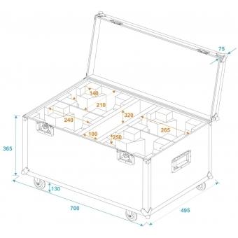 ROADINGER Flightcase 4x LED MFX-3 with wheels #5