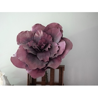 EUROPALMS Giant Flower (EVA), artificial, old rose, 80cm #3
