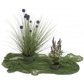 EUROPALMS Deco fabric, broad, green, 76x500cm #2