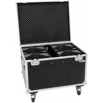 ROADINGER Flightcase 4x LED THA-100F/THA-120PC with wheels #3