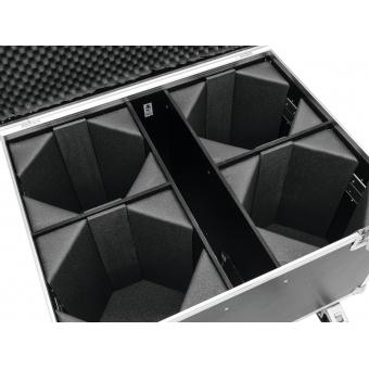 ROADINGER Flightcase 4x LED THA-100F/THA-120PC with wheels #4