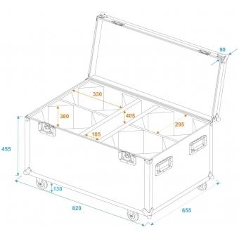 ROADINGER Flightcase 4x LED THA-100F/THA-120PC with wheels #5