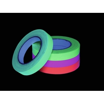 ACCESSORY Gaffa Tape 19mm x 25m neon-yellow UV-active #3