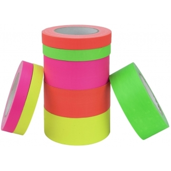 ACCESSORY Gaffa Tape 19mm x 25m neon-yellow UV-active #4