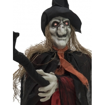 EUROPALMS Halloween witch on departure, 170cm #2
