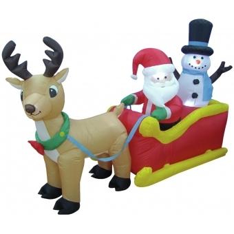 EUROPALMS Inflatable figure Santa´s sleigh 200cm