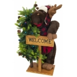 EUROPALMS Christmas moose, standing, 100cm