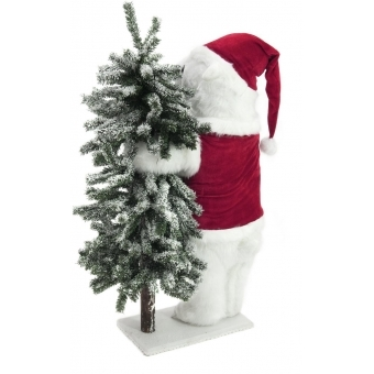 EUROPALMS Polar bear, with snowy fir, 105cm #2