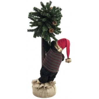 EUROPALMS Christmas bear, with fir, 105cm #2