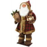 EUROPALMS Bushy beard Santa, inflatable with integrated pump, 16