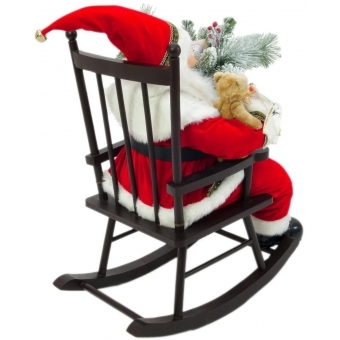 EUROPALMS Santaclaus with rocking chair, 80cm #2