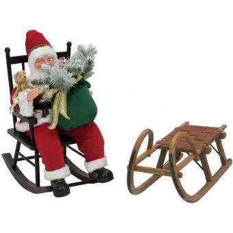 EUROPALMS Santaclaus with rocking chair, 80cm #3
