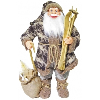 EUROPALMS Santa with ski, 60cm