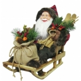 EUROPALMS Santa with sledge, 45cm
