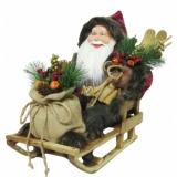 EUROPALMS Santa with sledge, 45cm