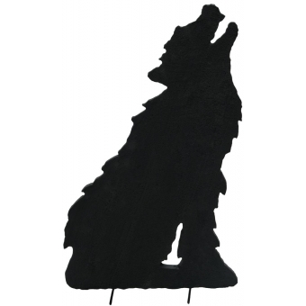 EUROPALMS Silhouette Wolf, 60cm