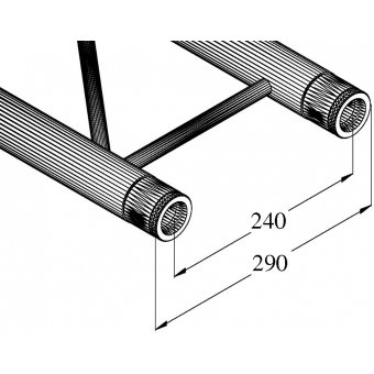 ALUTRUSS BILOCK E-GL22 1000 2-way Cross Beam #2