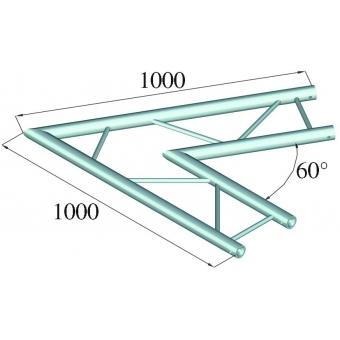 ALUTRUSS BILOCK E-GL22 C20-H 2-way Corner 60° #2