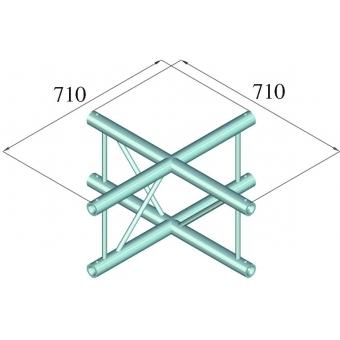 ALUTRUSS BILOCK E-GL22 C41-V 4-Way Cross #2