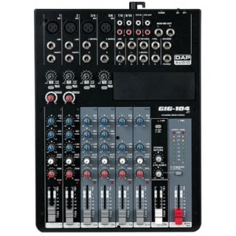 DAP-Audio GIG-104C 10 Channel live mixer incl. dynamics #2