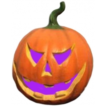 EUROPALMS Halloween Pumpkin with color changer, 29x26x26cm