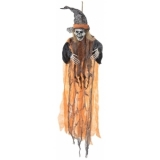 EUROPALMS Halloween Witch, orange, 90cm