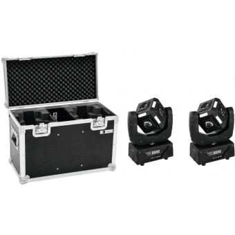 EUROLITE Set 2x LED MFX-3 Action Cube + Case