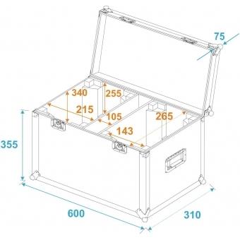 ROADINGER Flightcase 2x LED MFX-3 #5