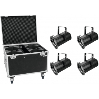 EUROLITE Set 4x LED THA-100F Theater-Spot + Case