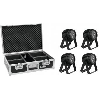 EUROLITE Set 4x LED IP PAR 3x12W HCL + Case