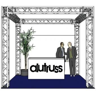 ALUTRUSS Truss set QUADLOCK 6082 square 4x4x3.5m (WxDxH) #2