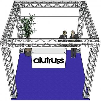 ALUTRUSS Truss set QUADLOCK 6082 square 4x4x3.5m (WxDxH) #3