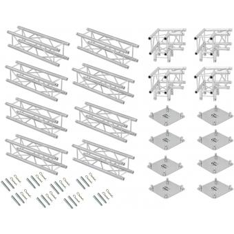 ALUTRUSS Truss set QUADLOCK 6082 square 4x4x3.5m (WxDxH) #4