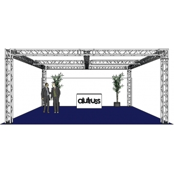 ALUTRUSS Truss set QUADLOCK 6082 square 7.71x7.71x3.5m (WxDxH) #2