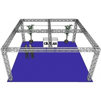 ALUTRUSS Truss set QUADLOCK 6082 square 7.71x7.71x3.5m (WxDxH) #3