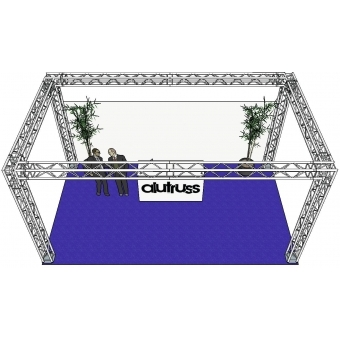 ALUTRUSS Truss set QUADLOCK 6082 rectangle 7x4x3.5m (WxDxH) #3