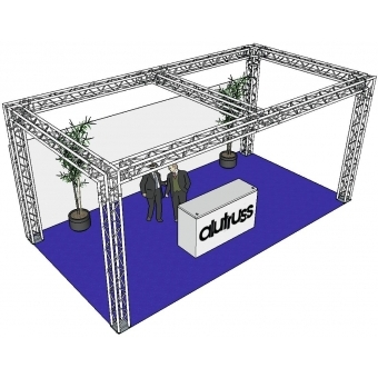 ALUTRUSS Truss set QUADLOCK 6082 rectangle 7.71x4x3.5m (WxDxH)