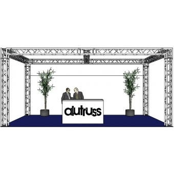 ALUTRUSS Truss set QUADLOCK 6082 rectangle 7.71x4x3.5m (WxDxH) #2