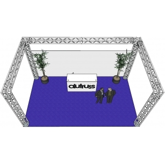 ALUTRUSS Truss set QUADLOCK 6082 U-Figure 7x4x3.5m (WxDxH) #3