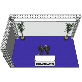 ALUTRUSS Truss set QUADLOCK 6082 L-Figure 7x4x3.5m (WxDxH) #3