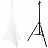 EUROLITE Set STV-40-WOT Aluminum Stand + Tripod Cover white