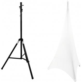 EUROLITE Set STV-40S-WOT Steel Stand + Tripod Cover white