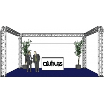 ALUTRUSS Truss set QUADLOCK 6082R U-Figure 7x4x3.5m (WxDxH) #2