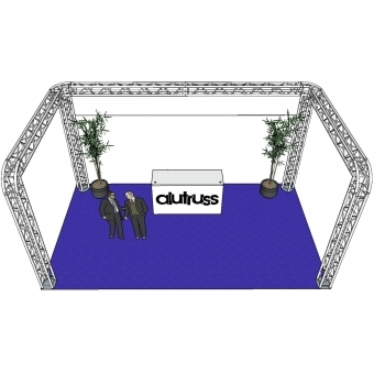 ALUTRUSS Truss set QUADLOCK 6082R U-Figure 7x4x3.5m (WxDxH) #3