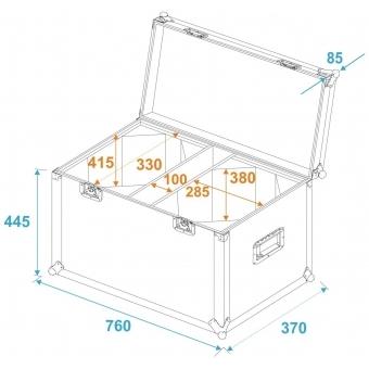 ROADINGER Flightcase 2x LED THA-100F/THA-120PC #5