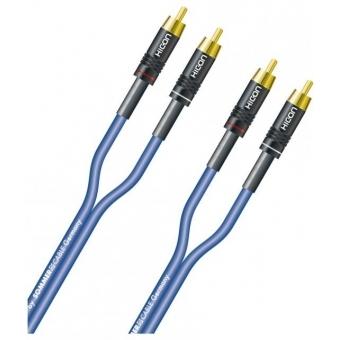 Cablu HICON SC-ONYX 2RCA/2RCA 0.75M,albastru