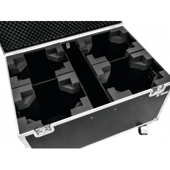 ROADINGER Flightcase 4x TMH-X12 with wheels #4