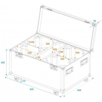 ROADINGER Flightcase 4x TMH-X12 with wheels #5