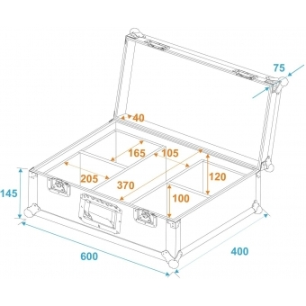 ROADINGER Flightcase 4x LED IP PAR 3x12W HCL #5