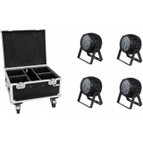 EUROLITE Set 4x LED IP PAR 12x12W HCL + Case